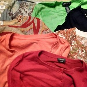 12 Talbots M Tops Cardigans Sweater Mixed Lot EUC